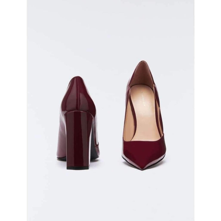 Escarpin verni bordeaux - Heraboutique