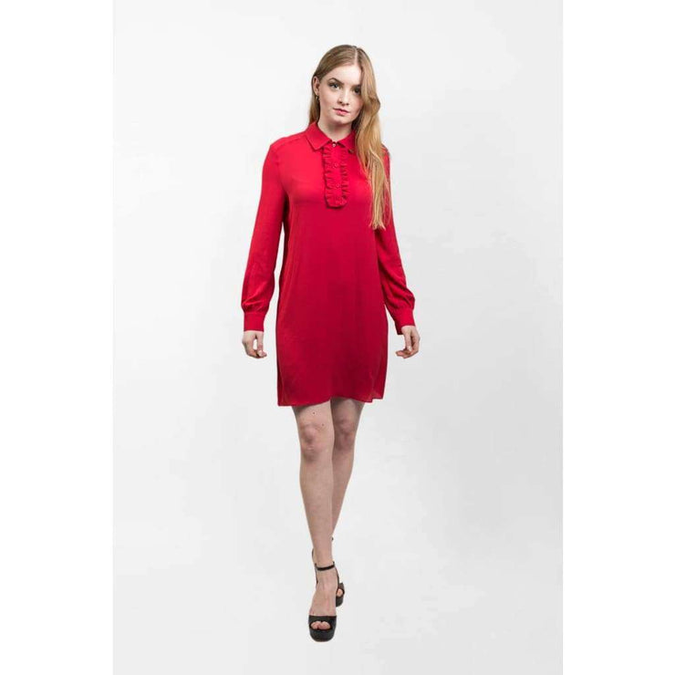 Robe chemisier rouge - Heraboutique