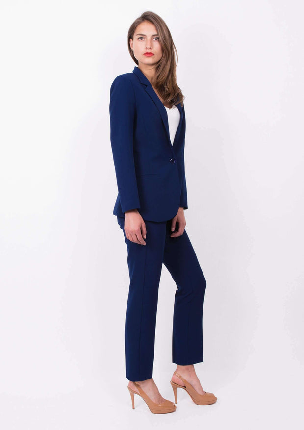 Tailleur trench bleu - Heraboutique