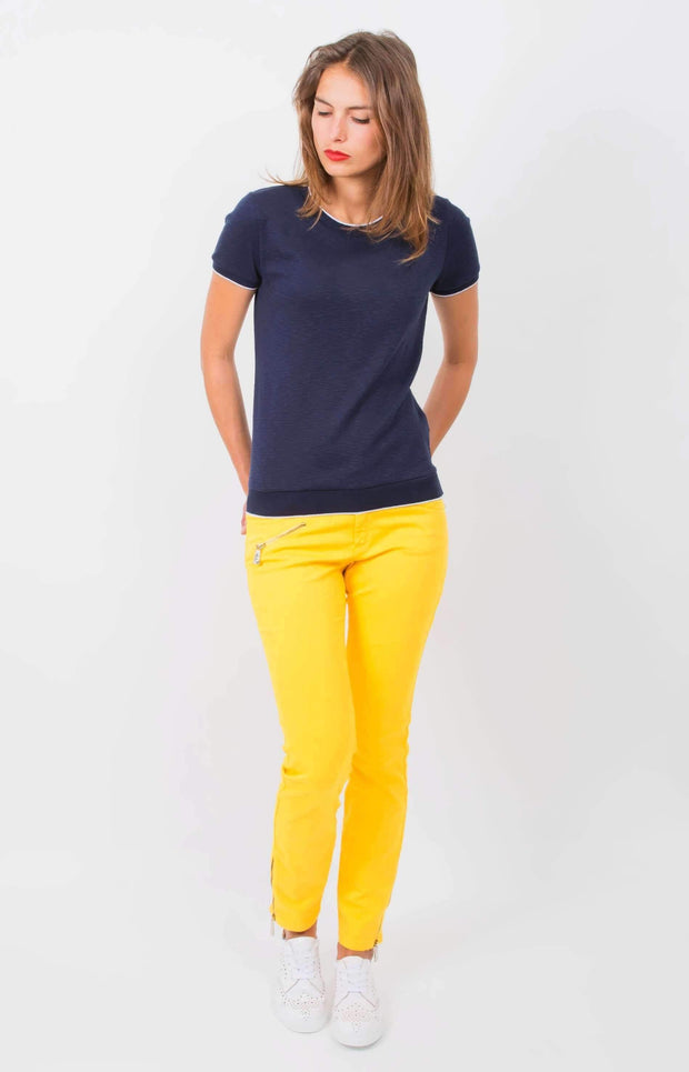 Jeans cropped jaune - Heraboutique
