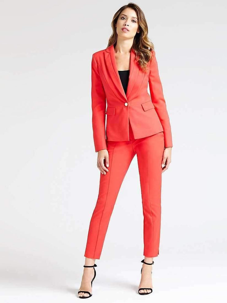 Blazer en coton orange - Heraboutique