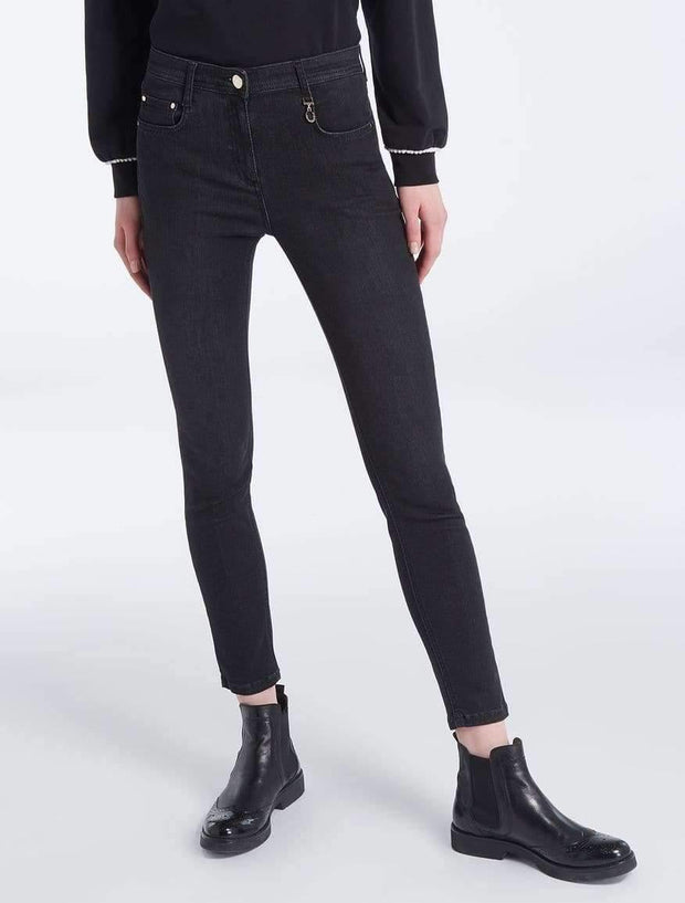 Jeans skinny gris fonce - Heraboutique