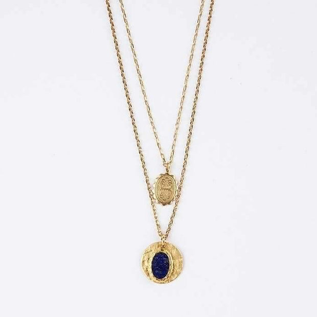 Collier en pierre lapis - Heraboutique