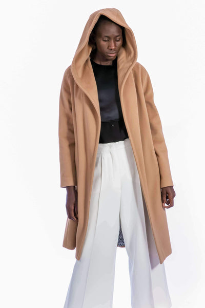 Manteau long en laine et cachemire - Heraboutique