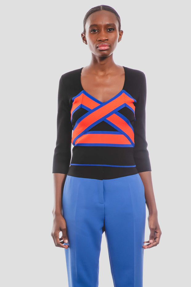 Top cropped multicolores