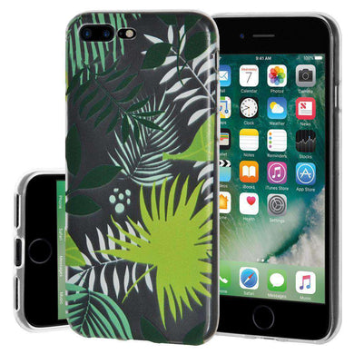 Soft Gel TPU Soft Skin Case Botanical for iPhone 7 Plus - Clear