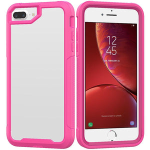 AMZER Shockproof Full Body Hybrid Case for iPhone 7 Plus - Pink - amzer
