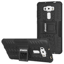 Load image into Gallery viewer, AMZER  Warrior Hybrid Case  for Asus ZenFone 3 5.5 Z012D - Black/Black - amzer