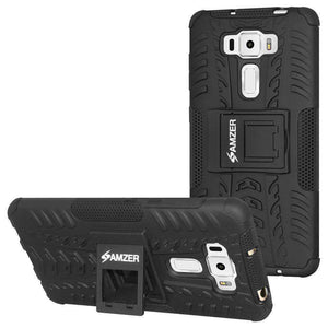 AMZER  Warrior Hybrid Case  for Asus ZenFone 3 5.5 Z012D - Black/Black - amzer