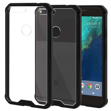 SlimGrip Bumper Hybrid Hard Shockproof Case for Google Pixel XL - amzer