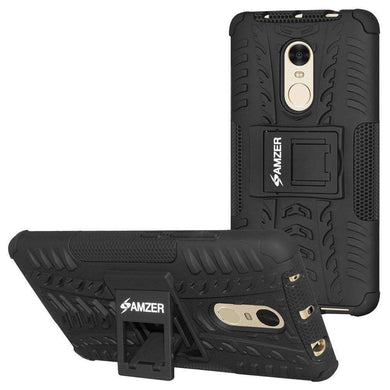 AMZER Hybrid Shockproof Cover Warrior Case for Xiaomi Redmi Note 4 - Black/Black - amzer