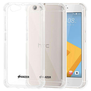 AMZER Pudding TPU Soft Skin X Protection Case for HTC One A9s - Crystal Clear