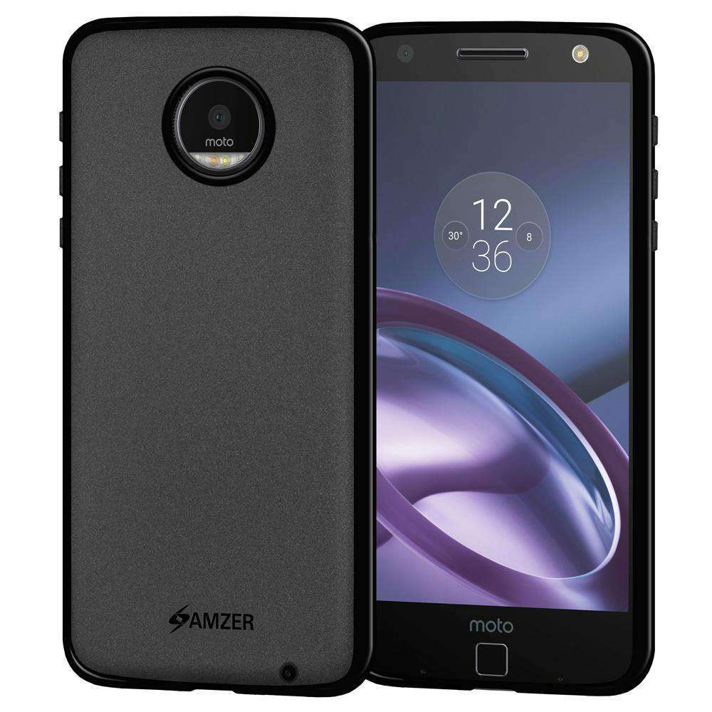 AMZER Pudding Soft TPU Skin Case for Motorola Moto Z - Black