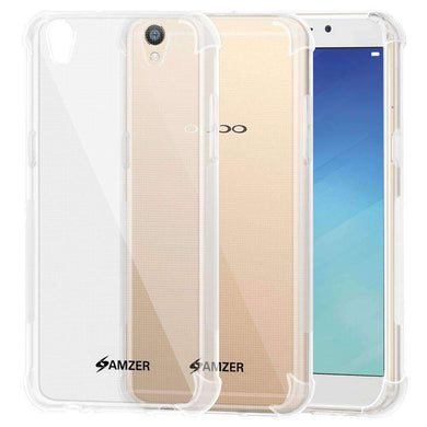 AMZER Pudding TPU Soft Skin X Protection Case for Oppo R9 Plus - Crystal Clear - amzer