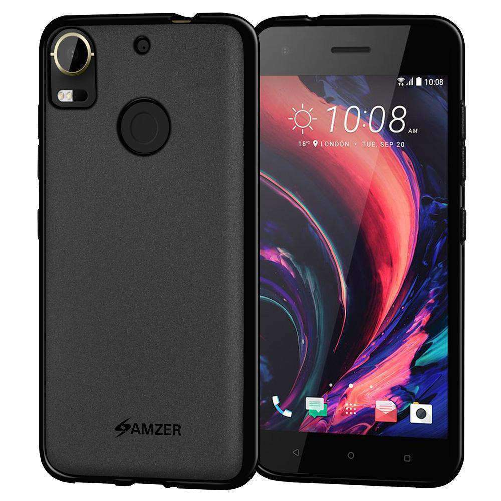 AMZER Pudding Soft TPU Skin Case for HTC Desire 10 Pro - Black