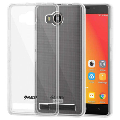 AMZER Pudding Soft TPU Skin Case for Lenovo A7700 - Clear - amzer