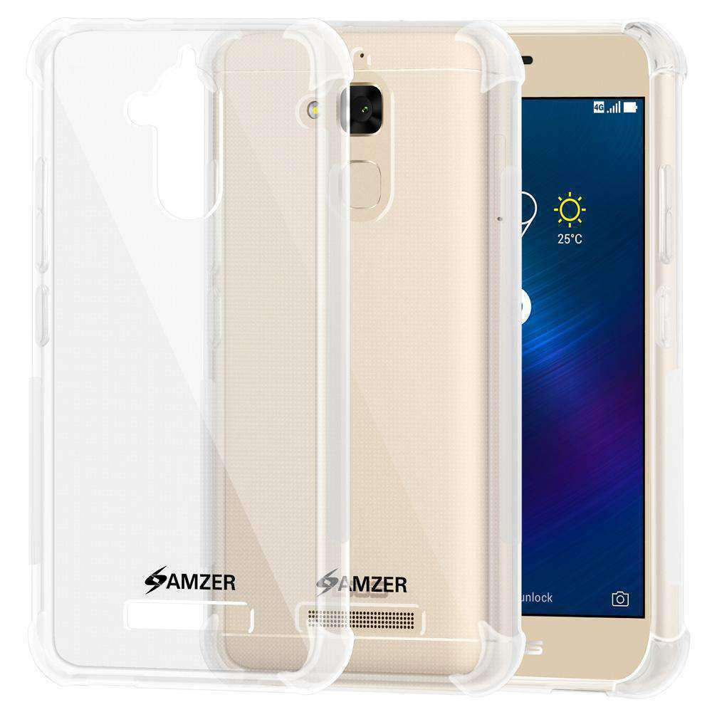 AMZER Pudding TPU Skin X Protection Case for Asus ZenFone 3 Max ZC520TL - Clear