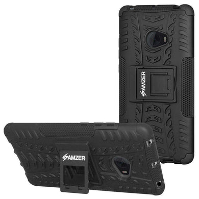 AMZER Shockproof Warrior Hybrid Case for Xiaomi Mi Note 2 - Black/Black - amzer