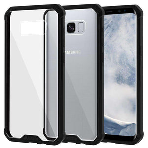 SlimGrip Bumper Hybrid Hard Shockproof Case for Samsung Galaxy S8 Plus - Black - amzer