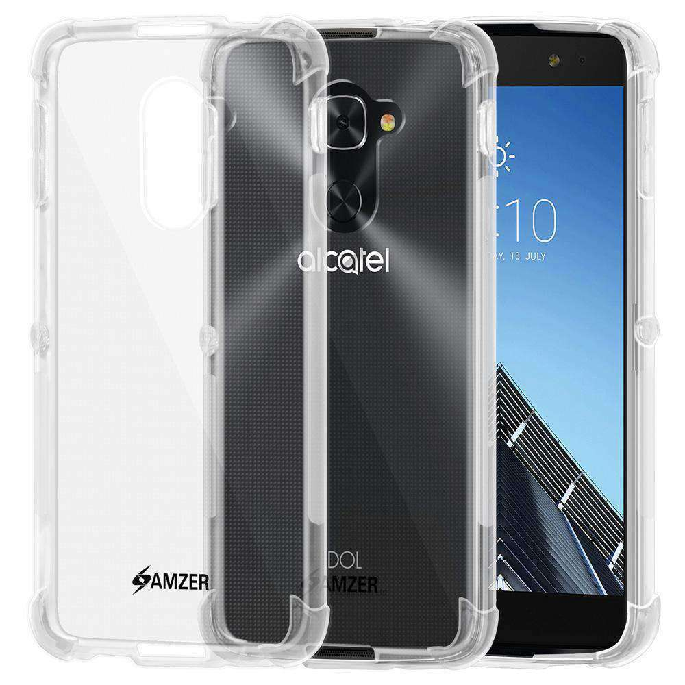 AMZER Pudding TPU Soft Skin X Protection Case for Alcatel Idol 4 Pro - Clear