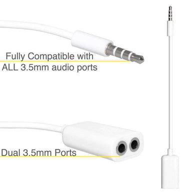 Female Audio Splitter Cable | iPad Bluetooth Car Kits/FM Transmitters | Amzer