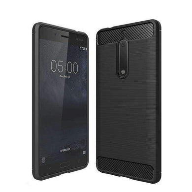 AMZER Pudding Soft TPU Skin Case for Nokia 5 - Black - amzer