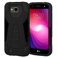 Load image into Gallery viewer, AMZER Dual Layer Hybrid KickStand Case for LG V9 - Black/Black - amzer