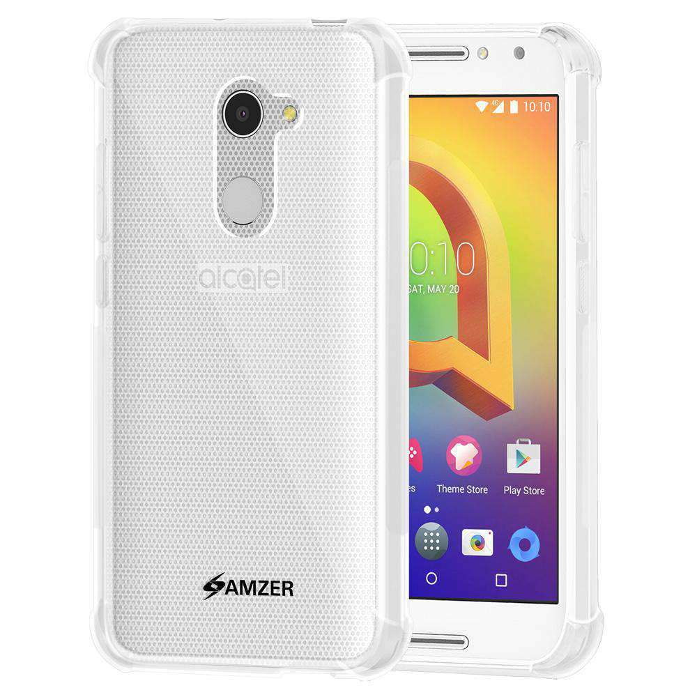 AMZER Pudding TPU Soft Skin X Protection Case - Crystal Clear for Alcatel A3