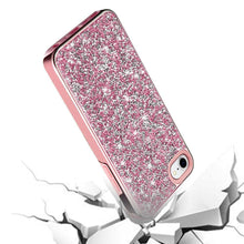 Load image into Gallery viewer, AMZER Rhinestone Diamond Platinum Collection Hybrid Bumper Case for  iPhone 7, iPhone SE 2020