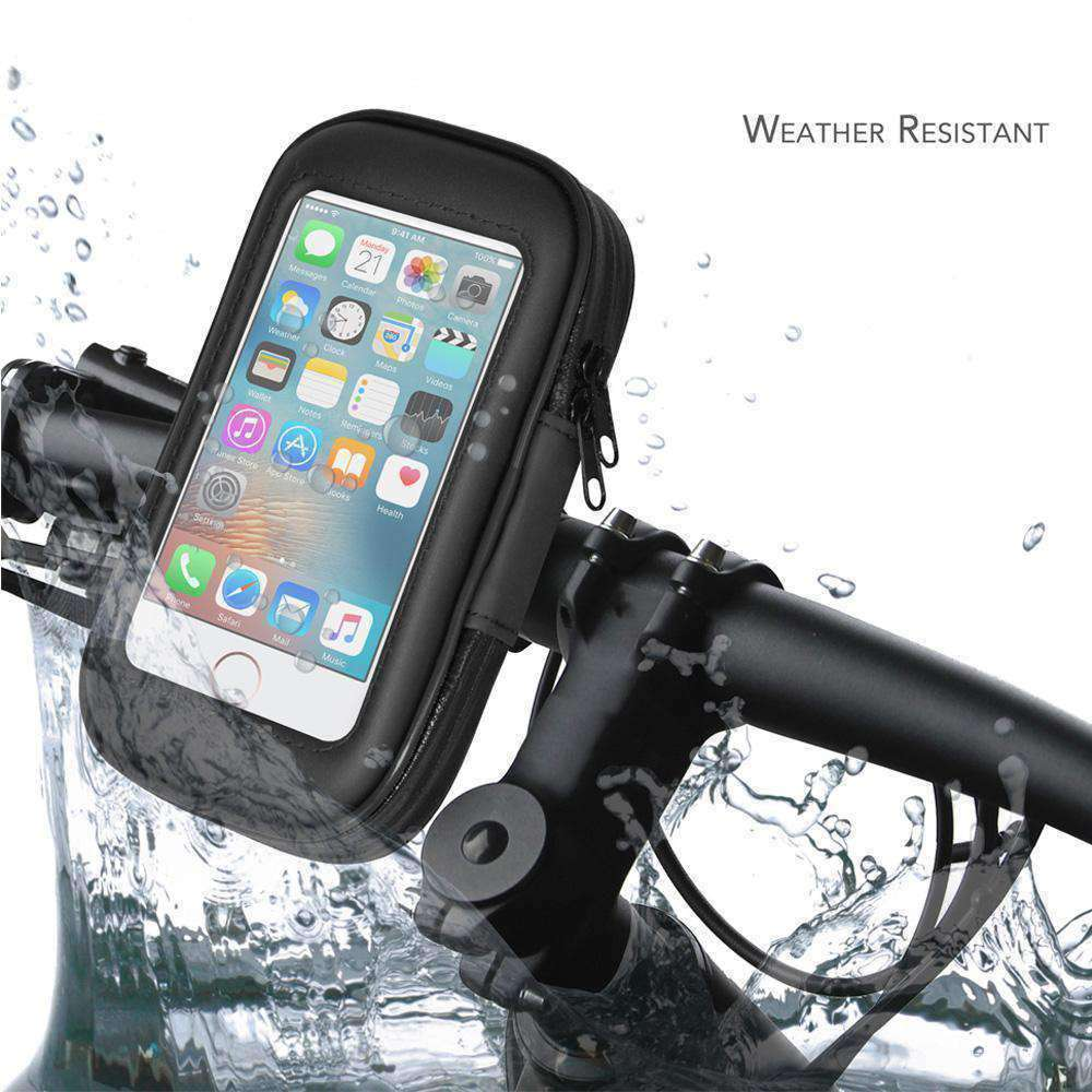 Weather Resistant 360° Rotable Bike Bicycle Handlebar Mount - Black