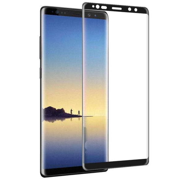 2.5D Curved Clear Anti-Scratch Tempered Glass for Samsung Galaxy Note8 - Black - fommystore