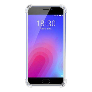 AMZER Pudding TPU Soft Skin X Protection Case for Meizu M6 - Crystal Clear