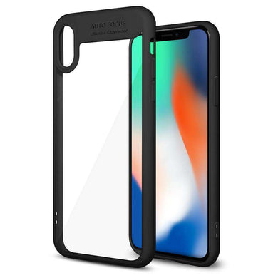 AMZER® Bare Hands Hybrid Protection Back Case - Black for iPhone X/ iPhone Xs