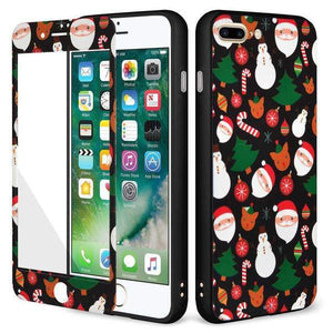 AMZER Holiday Ornaments Full Body Hybrid Case for iPhone 7 Plus - Black