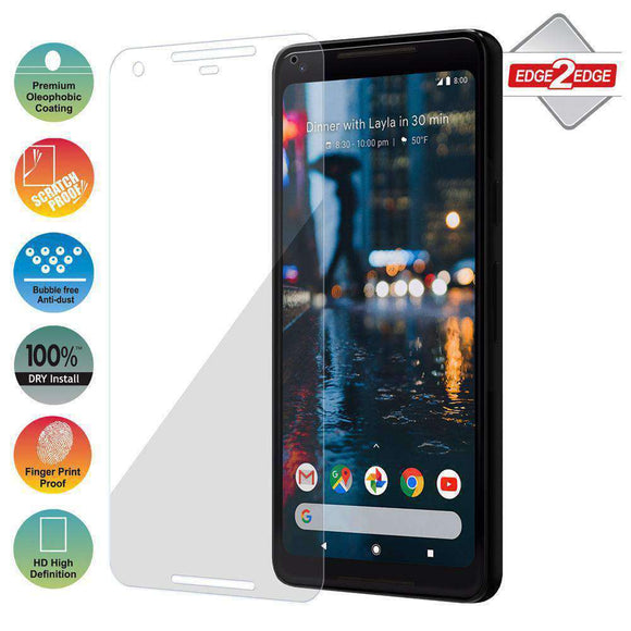 AMZER Edge2Edge Full Screen Coverage Screen Protector for Google Pixel 2 XL - Clear - fommystore