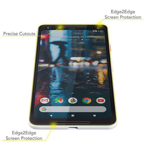 AMZER Edge2Edge Full Screen Coverage Screen Protector for Google Pixel 2 XL - amzer