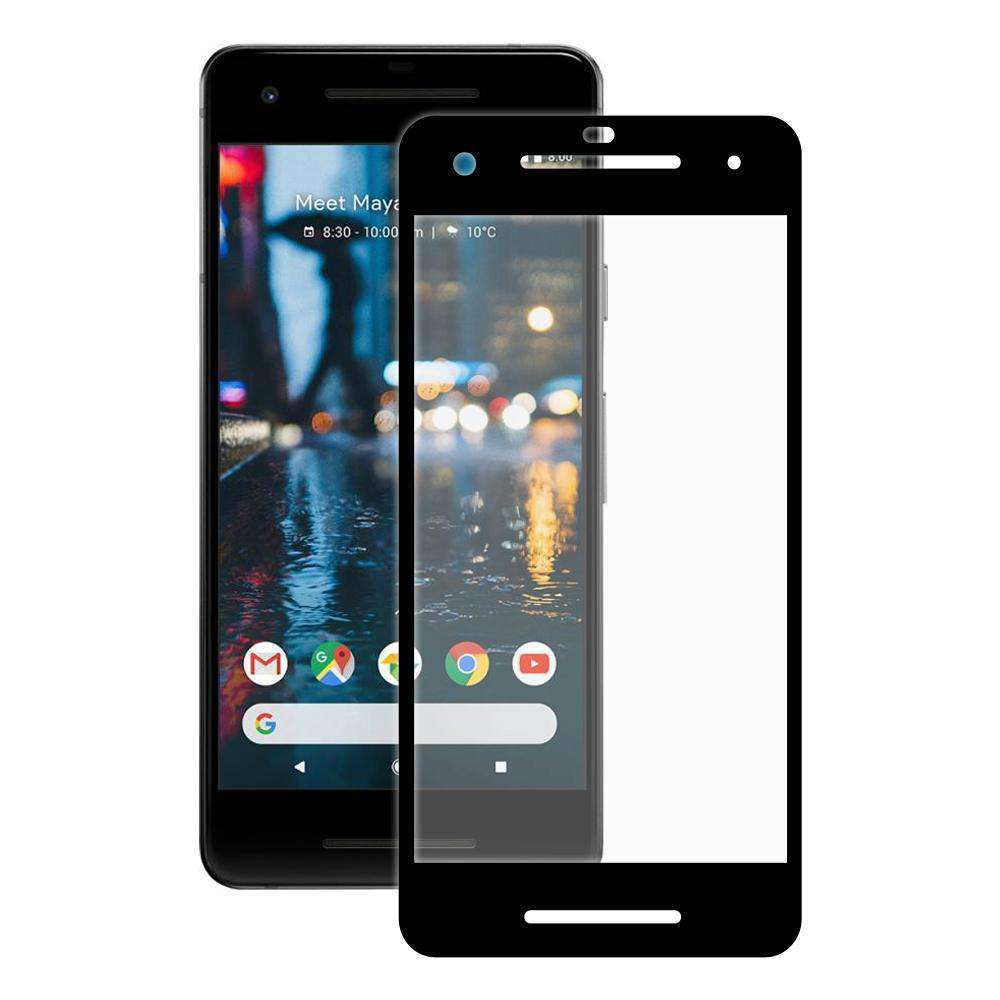 AMZER Kristal Tempered Glass HD Screen Protector for Google Pixel 2 - Black - amzer