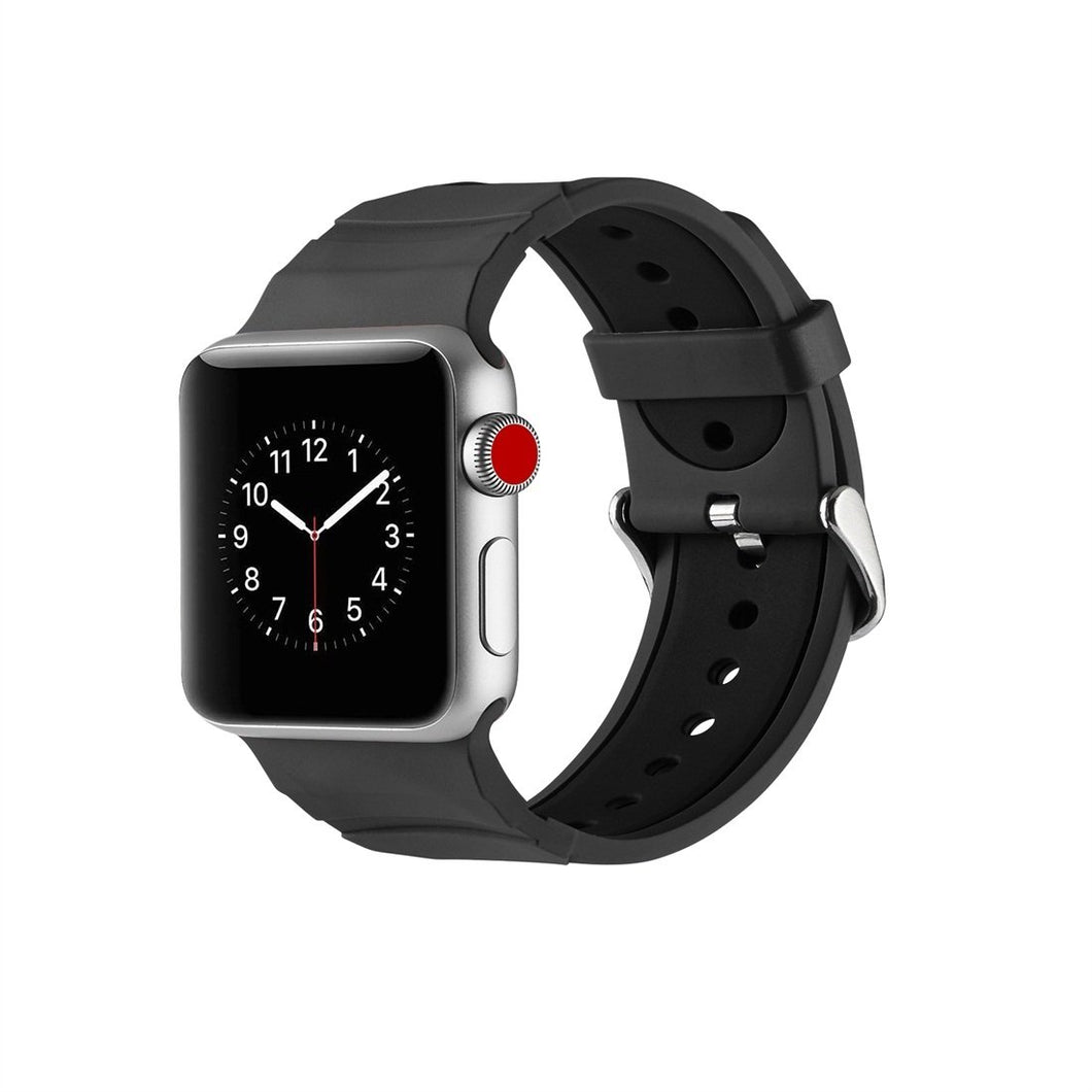 AMZER 42MM High Quality Silicone Watch Band Strap for Apple Watch Series 1