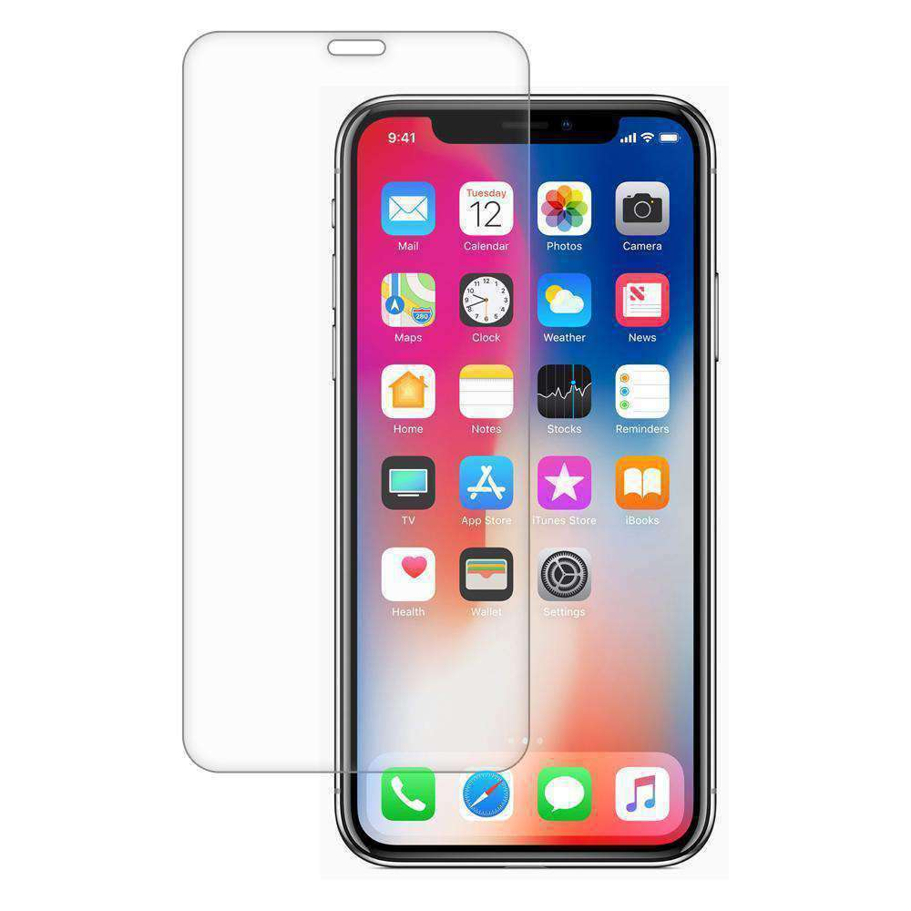 AMZER Kristal Tempered Glass HD Edge2Edge Protector for iPhone X - Clear - amzer