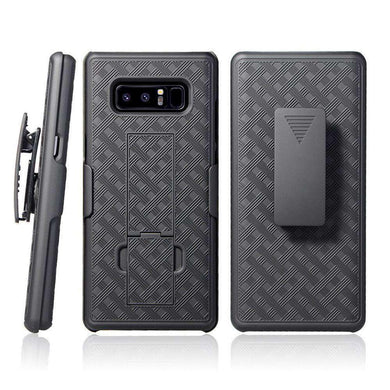 AMZER Shellster Hard Case  Belt Clip Holster for Samsung Galaxy Note8 - Black - amzer