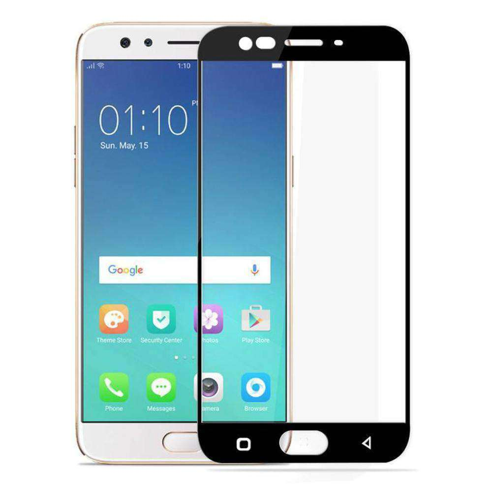 AMZER Kristal Tempered Glass HD Screen Protector for Oppo F3 Plus - Black