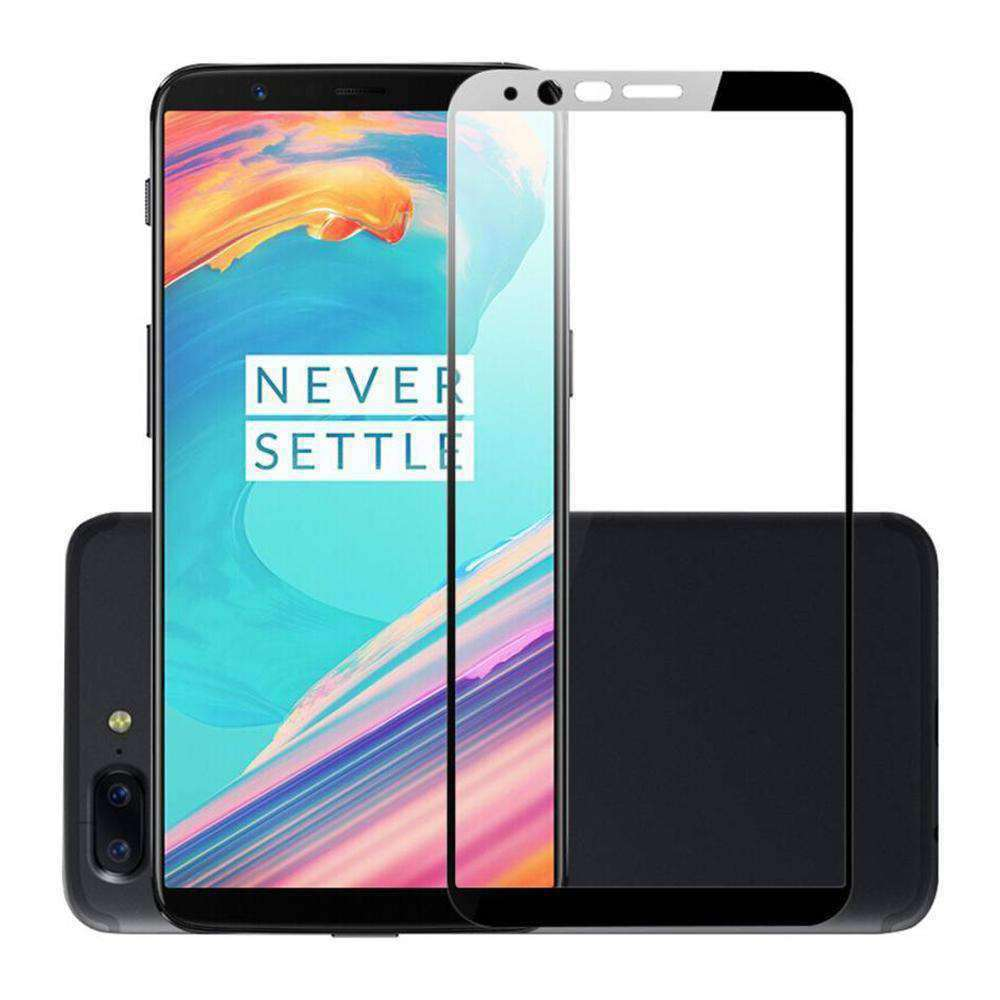 AMZER Kristal 9H Tempered Glass Edge2Edge Protector for OnePlus 5T - Black