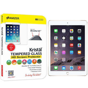 AMZER Kristal Tempered Glass HD Screen Protector for The new 9.7 iPad 2018 - Clear