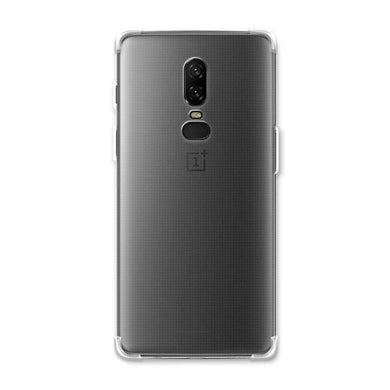 AMZER Pudding TPU Soft Skin X Protection Case for OnePlus 6 - Crystal Clear - amzer