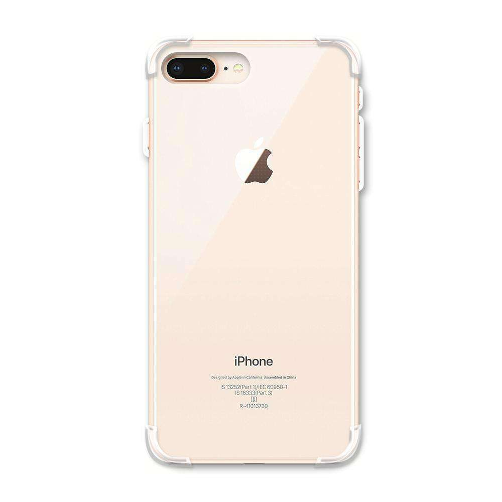AMZER Pudding TPU Soft Skin X Protection Case for iPhone 8 Plus - Crystal Clear