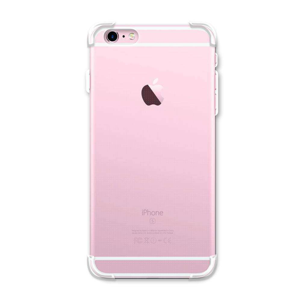 AMZER Pudding TPU Soft Skin X Protection Case for iPhone 6 Plus - Crystal Clear