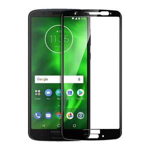 AMZER Kristal 9H Tempered Glass Edge2Edge Protector for Motorola Moto G6 - Black