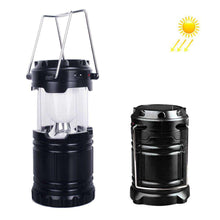 Load image into Gallery viewer, Rechargeable Lantern Solar Camping Lamp Outdoor Lighting Portable Camping Lantern - Black - amzer