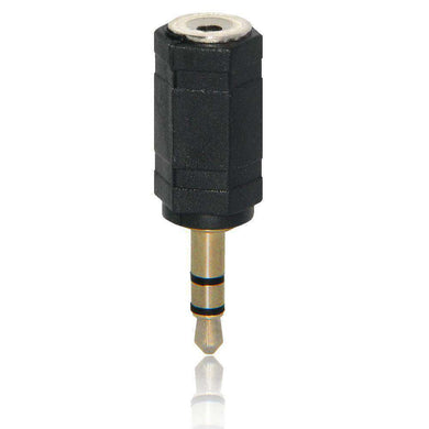 AMZER 3.5mm Female to 2.5mm Male Adapter - Black