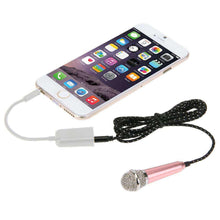 Load image into Gallery viewer, Stylish Mini Mobile Microphone with 3.5mm Audio Interface & 1.6m 3.5 mm Male to 2 Female Plug Adapter Cable - amzer